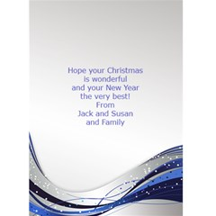 Blue And Silver Christmas 2016 (5x7) Card By Deborah   Greeting Card 5  X 7    Jnbi9ue3zh4e   Www Artscow Com Back Inside