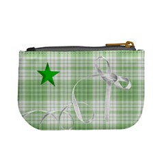 Mini Coin Purse Green Stars By Laurrie   Mini Coin Purse   G67wp6axahzf   Www Artscow Com Back