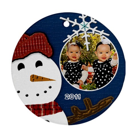 Twinsornament By Lindsay   Ornament (round)   Oxaoi694zmjp   Www Artscow Com Front