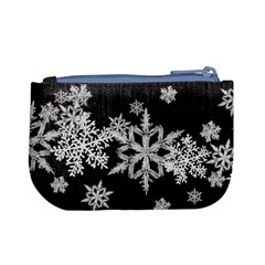 Mini Coin Purse Black Snowflakes By Laurrie Back
