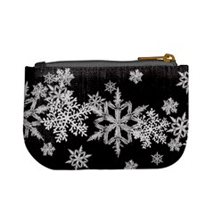 Mini Coin Purse Black Snowflakes By Laurrie   Mini Coin Purse   T9n0cijfsgnd   Www Artscow Com Back