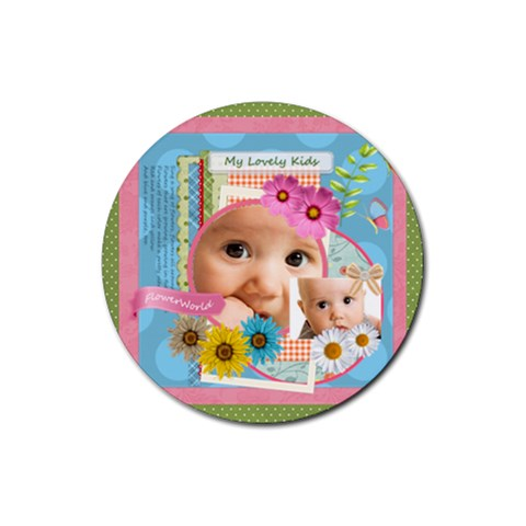 Flower Gift By Joely   Rubber Coaster (round)   Hfs91dq1doee   Www Artscow Com Front