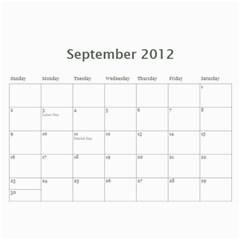 All Dates Calendar By Necia   Wall Calendar 11  X 8 5  (12 Months)   A23bokgpds41   Www Artscow Com Sep 2012