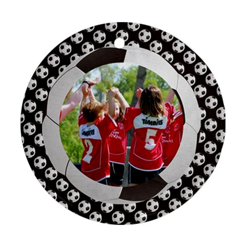 Soccer/football   Round Ornament (1 Side) By Mikki   Ornament (round)   Bd8gujo1mlrt   Www Artscow Com Front