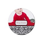 merry christmas - Rubber Round Coaster (4 pack)