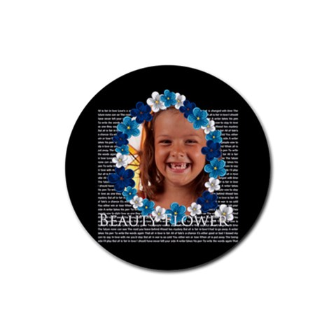 Flower Girls By Joely   Rubber Round Coaster (4 Pack)   20sjde0ocfjd   Www Artscow Com Front