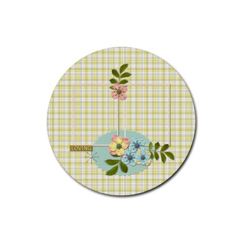 Coaster: Loving By Jennyl   Rubber Coaster (round)   2qz435jbxb0n   Www Artscow Com Front