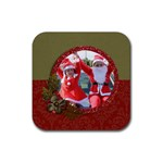 Coaster: Christmas1 - Rubber Coaster (Square)