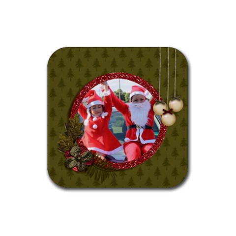 Coaster: Christmas2 By Jennyl   Rubber Coaster (square)   928kky9nbtjp   Www Artscow Com Front