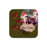 Coaster: Christmas4 - Rubber Coaster (Square)