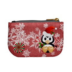 Mini Coin Purse Red Snowflakes By Laurrie   Mini Coin Purse   Kek8cw5gcjv3   Www Artscow Com Back