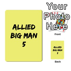 Iabsm3 Allied By Agentbalzac   Multi Purpose Cards (rectangle)   71uln76men5d   Www Artscow Com Back 17