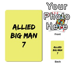 Iabsm3 Allied By Agentbalzac   Multi Purpose Cards (rectangle)   71uln76men5d   Www Artscow Com Back 19