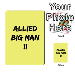 Iabsm3 Allied By Agentbalzac   Multi Purpose Cards (rectangle)   71uln76men5d   Www Artscow Com Back 23