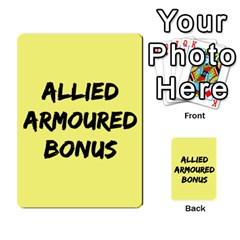 Iabsm3 Allied By Agentbalzac   Multi Purpose Cards (rectangle)   71uln76men5d   Www Artscow Com Back 31