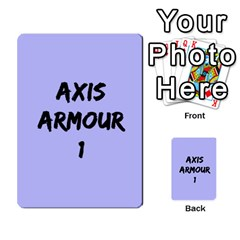 Iabsm3 Axis By Agentbalzac   Multi Purpose Cards (rectangle)   No3jvuvw9xze   Www Artscow Com Back 9
