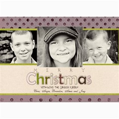 Purple/pink Christmas Card By Lana Laflen   5  X 7  Photo Cards   Qjrnsnt2yuv4   Www Artscow Com 7 x5 Photo Card - 4