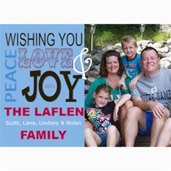 Holiday Card Blue By Lana Laflen   5  X 7  Photo Cards   F0io12w9lftr   Www Artscow Com 7 x5 Photo Card - 5