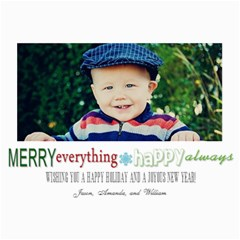 Merry Everything Christmas Card By Lana Laflen   5  X 7  Photo Cards   7wpf8pcah4d8   Www Artscow Com 7 x5 Photo Card - 5
