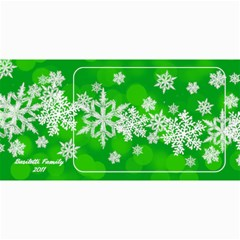 8x4 Photo Greeting Card Green Snowflakes By Laurrie   4  X 8  Photo Cards   Mqfyilthnjwf   Www Artscow Com 8 x4 Photo Card - 8