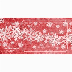 8x4 Photo Greeting Card Red Snowflakes By Laurrie   4  X 8  Photo Cards   Yivbg3bikdnz   Www Artscow Com 8 x4  Photo Card - 1