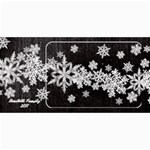 8x4 Photo Greeting Card black snowflakes - 4  x 8  Photo Cards
