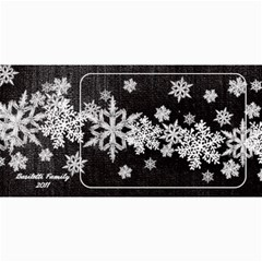 8x4 Photo Greeting Card black snowflakes by Laurrie 8 x4 Photo Card - 6