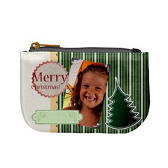 Merry Christmas By Joely   Mini Coin Purse   M8xj5pfdgffu   Www Artscow Com Front