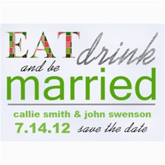 Eatdrinkandbemarried Card By Lana Laflen   5  X 7  Photo Cards   0yiz4p0sni3k   Www Artscow Com 7 x5  Photo Card - 1