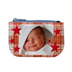 Mini Coin Purse Red Stars By Laurrie Front