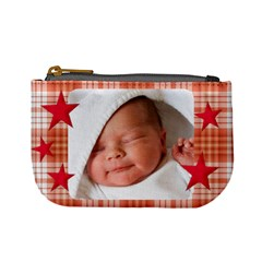 Mini Coin Purse Red Stars By Laurrie   Mini Coin Purse   Idc3btw5v0ug   Www Artscow Com Front
