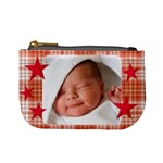mini coin purse red stars