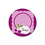 Cherry Round coaster 01 - Rubber Coaster (Round)