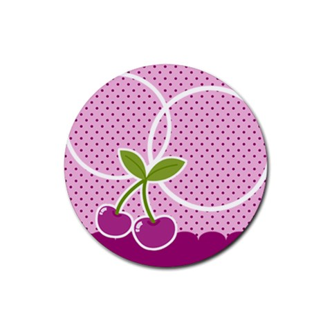 Cherry Round Coaster 04 By Carol Front