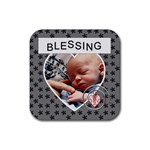 Blessing Square Coaster - Rubber Coaster (Square)