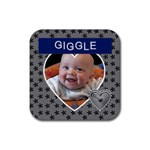 Giggle Square Coaster - Rubber Coaster (Square)