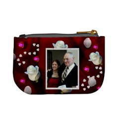 Hearts And White Roses Change Purse By Kim Blair   Mini Coin Purse   Gvbs6ez3fgrl   Www Artscow Com Back