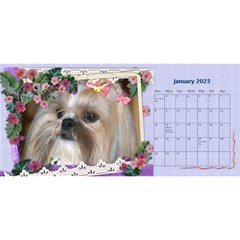 Little Flowers Desktop Calendar By Deborah   Desktop Calendar 11  X 5    4db1ca4rfofk   Www Artscow Com Jan 2020