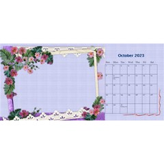 Little Flowers Desktop Calendar By Deborah   Desktop Calendar 11  X 5    4db1ca4rfofk   Www Artscow Com Oct 2020