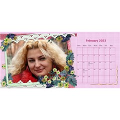 Little Flowers Desktop Calendar By Deborah   Desktop Calendar 11  X 5    4db1ca4rfofk   Www Artscow Com Feb 2020