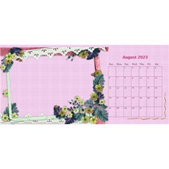 Little Flowers Desktop Calendar By Deborah   Desktop Calendar 11  X 5    4db1ca4rfofk   Www Artscow Com Aug 2020