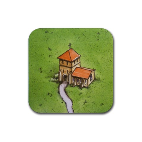 Cloister By Evan   Rubber Coaster (square)   Vhq9qrpgtjmv   Www Artscow Com Front