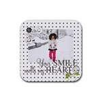 coaster - love - s1 - Rubber Coaster (Square)