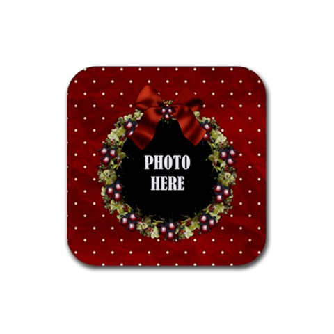All I Want For Christmas Coaster 2 By Lisa Minor   Rubber Coaster (square)   1ya925vh99ac   Www Artscow Com Front