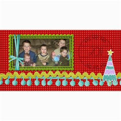 Ho Ho Ho Card By Martha Meier   4  X 8  Photo Cards   7q87nssackip   Www Artscow Com 8 x4 Photo Card - 7
