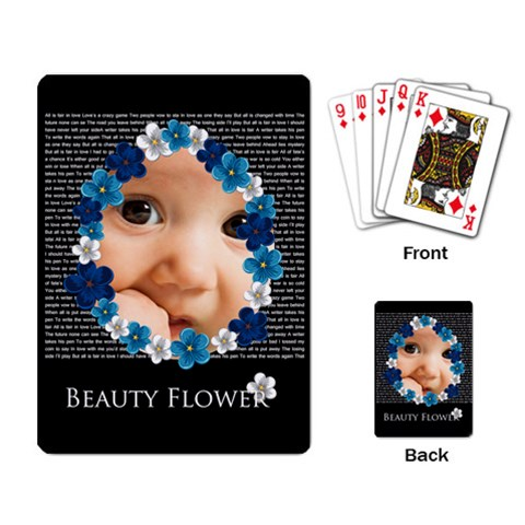 Flower By Joely   Playing Cards Single Design (rectangle)   G67bkcssxe4u   Www Artscow Com Back