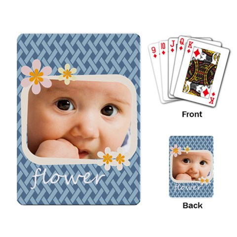Flower By Joely   Playing Cards Single Design   9yrcwuck3yxk   Www Artscow Com Back