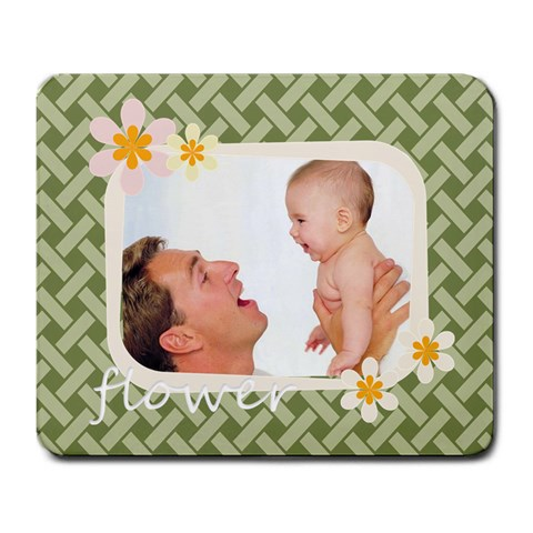 Flower By Joely   Large Mousepad   Y76wepeqisl7   Www Artscow Com Front