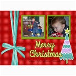 Christmas card with ribbon - 5  x 7  Photo Cards