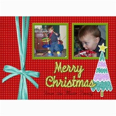 Christmas Card With Ribbon By Martha Meier   5  X 7  Photo Cards   Uzwysozc1b7o   Www Artscow Com 7 x5 Photo Card - 5